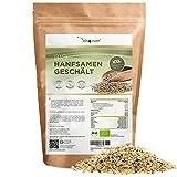 Bio Hanfsamen geschält - 1100 g (1,1 kg) – Premium: Herkunft Niederlande - Natürliche Protein Eiweißquelle - Reich an Omega-3 Fettsäuren - 100% Hempseeds - Vegan -Superfood - Laborgeprüft